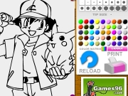 Pokemon and friend coloring Game