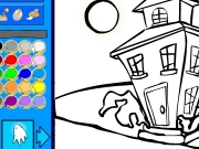 Strange house coloring Game