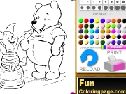 Winnie The Poh Coloring Game