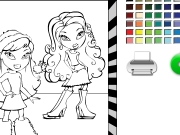 Bratz and friend coloring Game