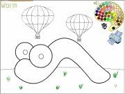 Worm coloring 2 Game