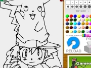 Pokemon and friend coloring 2 Game
