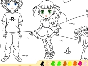 Girl and boy online coloring Game