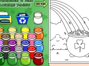 St patricks coloring Game