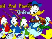 Donald and Family Online Coloring Game