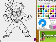 Dragon ball Gohan coloring Game