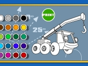 Bob the builder coloring truck Game