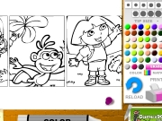 Dora anime coloring Game