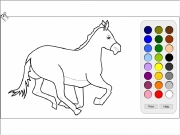 Running horse coloring Game