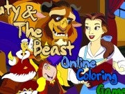 Beauty and the beast online coloring Game