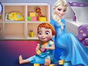 Elsa Playing With Baby Anna Game
