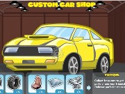 Custom car shop Game