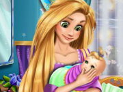 Rapunzel Baby Caring Game