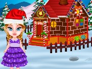 Baby Elsa And Gingerbread House Game