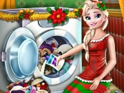 Elsa Washing Christmas Toys Game