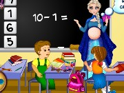 Pregnant Elsa School Teacher Game