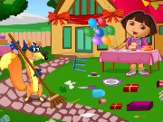 Dora Birthday Bash Cleaning Game