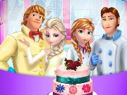 Frozen Family Cooking Wedding Cake Game