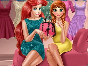 Anna And Ariel Dressing Room Game