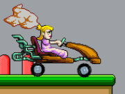 Peach Car Racer Game
