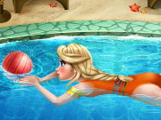 Elsa Swimming Pool Game