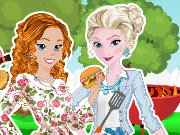 Frozen Sisters BBQ Party Game