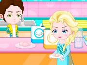 Elsa Baby Lovers Make Cookies Game