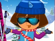 Dora Skiing DressUp Game