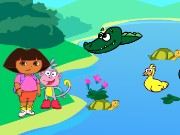 Dora Crocodile Lake Game