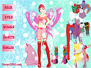 Butterfly Girl Dressup Game