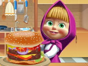 Masha cooking Big Burger Game