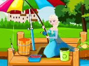 Elsa Learn Fishing Game