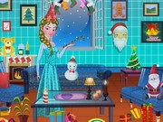 Princess Elsa Xmas Room Decor Game