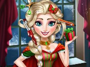 Elsa Christmas Real Haircuts Game