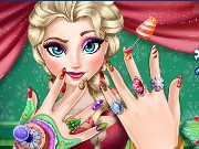 Elsa Christmas Manicure Game