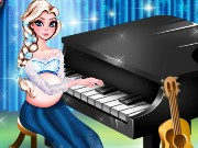 Pregnant Elsa Piano Performance Game