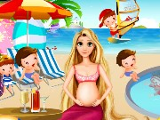 Pregnant Rapunzel Pool Party Game