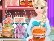 Pregnant Elsa Burger Cooking Game