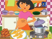 Pregnant Dora Cooking Crispy Wings Game