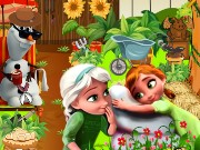Frozen Princess Garden Game