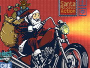 Santa Motocross Action Game