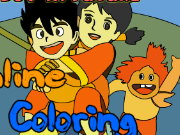 coloring picture Detective Conan Game