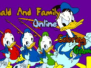 coloring pages donald and Family Game