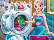 Elsa Laundry Day Game
