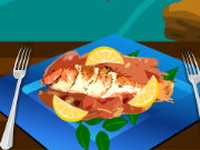 Grilled fish with lemon Game