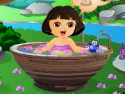 Cute Dora Bathing Game
