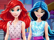 Ariel and Jasmine Mall Shopping Game