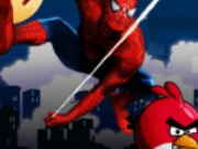 Spiderman save Angry Birds Game