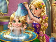 Rapunzel Baby Wash Game