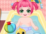 Baby Girl Showering Care Game